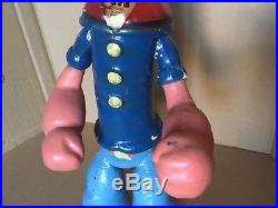 14 wood jointed POPEYE composition doll figure toy ideal or cameo vintage 1930s