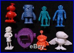 16 Rare Complete Set SPACE RAJÁ Dunkin Figures Premium kaugummifiguren 1969