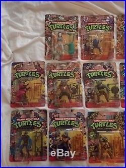17 1988 TMNT 10 Back Vintage Action Figure MOC toy collection SOFT HEAD 1st wave