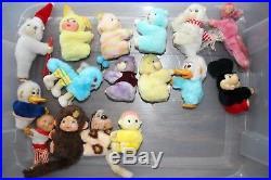 189 rare vintage Clip On toy huggers lot 1980's plush dolls figures grabbers set