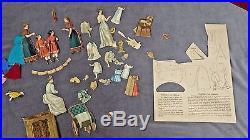 1890 Jos. Scholz DAS GROSSE PUPPENHAUS Doll Rooms Triptychs, Box, Loose Figures