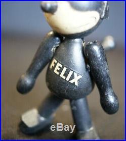 1920's Schoenhut Felix The Cat Jointed Wood & Composition Doll Figure 3 3/4 H