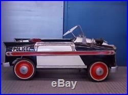 1930s pedal car KOTAKARA Police car Vintage Figure Toy Mini Car75