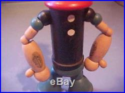 1932 POPEYE toy figure doll J Chein 8 wood jointed