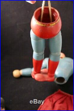 1940 Ideal Superman articulated wood composition doll figure Rare
