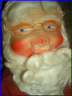1943 vintage, labeled GUND, musical baby face, boxed Santa Claus doll toy figure