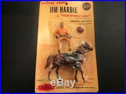 1960 Hartland Mini Western Figure & Horse, Mint on Blister Pack, Jim Hardie