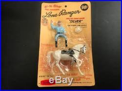 1960 Hartland Mini Western Figure & Horse, Mint on Blister Pack, Lone Ranger