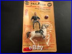 1960 Hartland Mini Western Figure & Horse, Mint on Blister Pack, Paladin