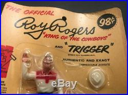 1960 Hartland Mini Western Figure & Horse, Mint on Blister Pack, Roy Rogers