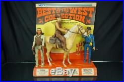 1960's Marx Toys Johnny West Original Store Display Cowboy Action Figures