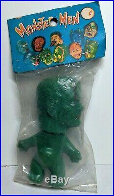 1960s Vintage Monster Men FRANKENSTEIN Nik Troll Figure Toy MIP Nude Version