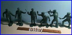 1966 Marx MAN FROM UNCLE (6) Original Blue FIGURE LOT
