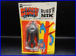 1967 vintage KING KONG Multiple Toymakers Rubb'r Nik bendy rubber toy figure MOC
