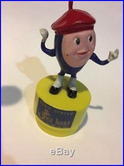 1969 SEA HOST Push Puppet Restaurant Ossie Oyster Vtg Figure Toy RARE Promo VHTF