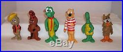 1969 Walt Kelly Pogo & Pals Proctor Gamble Premium Complete 6 Figures & Mugs Lot