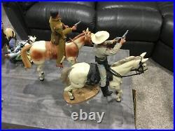 1970's Gabriel Lone Ranger-Silver-Tonto-Scout Horses & Figures Vintage Cool marx