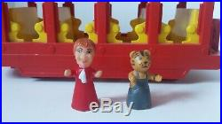 1970s Mr. Rogers Plastic Toy Trolley with figures (Good Condition)