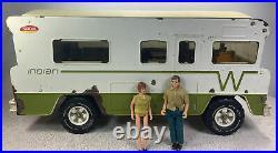 1970s Vintage Tonka Winnebago Indian RV Motorhome Camper Toy 22 2 Figures Rust