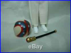 1972 1st Edition EVEL KNIEVEL Action Figure White Suit Ramhead Helmet MINT