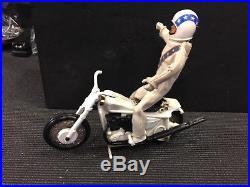 1972 EVEL KNIEVEL Stunt Cycle & Figure Helmet Vintage Motorcycle, original cond