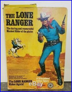 1973 Marx/Gabriel The Lone Ranger Action Figure with box