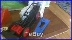 1974 EVEL KNIEVEL STUNT & CrASH CAR Figure, Launcher, Instructions & BOX