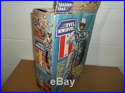 1975 EVEL KNIEVEL STUNT CYCLE SET Complete withBOX Figure Cane Helmet Ideal Toy ad