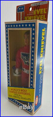1976 Ideal Evel Knievel Flexible Action Figure Doll Red Suit Mib Store Stock