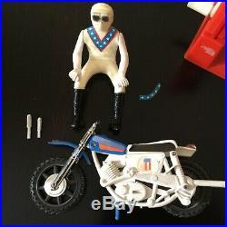 1977 Evel Knievel Stunt Cycle Variant Motocross Bike- Plastic Figure Ultra Rare