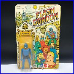 1979 Mattel Flash Gordon Action Figure Moc Vintage Toy Beastman Unpunched Blue