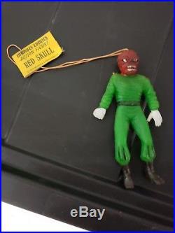 1979 Vintage Ben Cooper Red Skull Jiggler Figure With Tag Mint Rare Marvel