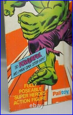 1979 vintage PALITOY Mego Incredible HULK action figure 8 toy UK package RARE