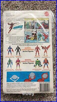 1984 UNPUNCHED Mattel Marvel SECRET WARS Daredevil Figure MOC Vintage Toy