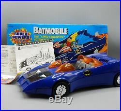1984 vintage Kenner Super Powers BATMOBILE action figure vehicle RARE Batman toy