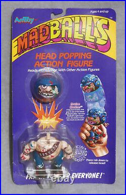 1986 MADBALLS Head Popping Toy Action Figure BRUISE BROTHER Vintage AMTOY MOC