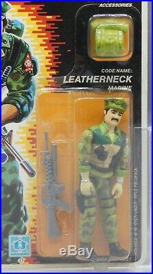 1986 vintage AFA 80 Hasbro GI Joe LEATHERNECK action figure MOC toy SEALED nice