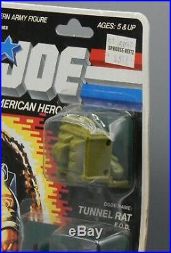 1987 Vintage Hasbro GI Joe TUNNEL RAT Action Figure MOC Sealed Toy ARAH G. I