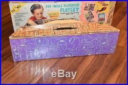 1988 Vintage Matchbox Pee Wee Herman PEE-WEE'S PLAYHOUSE PLAYSET + Figures toy