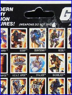1988 vintage GI Joe SCOOP toy MOC sealed Hasbro Sgt. Slaughter micro figure NICE