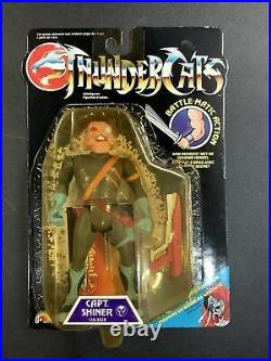 1989 Vintage Thundercats Enemy Captain Shiner New On Card Action Figure Toy Moc