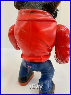 1996 Street Wise Muscle Mutt Gutter Figure Toy Rare Vintage Red Jacket Mean Dog