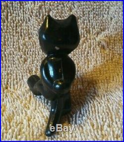 2 Antique Pre War Japan Celluloid Standing Felix the Cat Toy Figures NICE