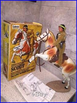 3 Vintage Gabriel Lone Ranger Figures & Horses With Box Tonto Butch Silver Smoke