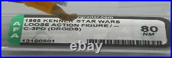 AFA 80 vintage Star Wars C-3PO Kenner DROIDS cartoon action figure 1985 RARE toy