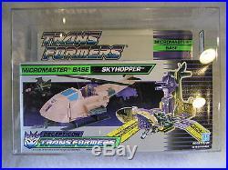 AFA 85 vintage Transformers SKYHOPPER G1 Hasbro MIB Micromaster figure 1988 toy