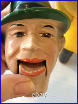 Antique Dick Tracy Ventriloquist Dummy Doll Figure Early 1930s