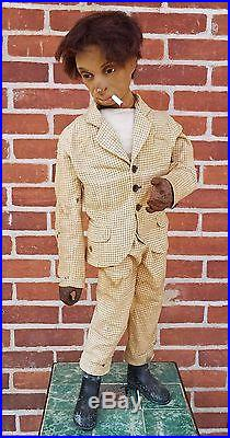 Antique Store Display Figure Italian Organ Grinder Articulated Automaton Type