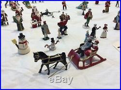 Antique / Vintage Barclay Manoil Christmas Village Lead Figures