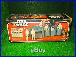 Authentic star wars imperial troop transporter palitoy boxed figure toy Vtg